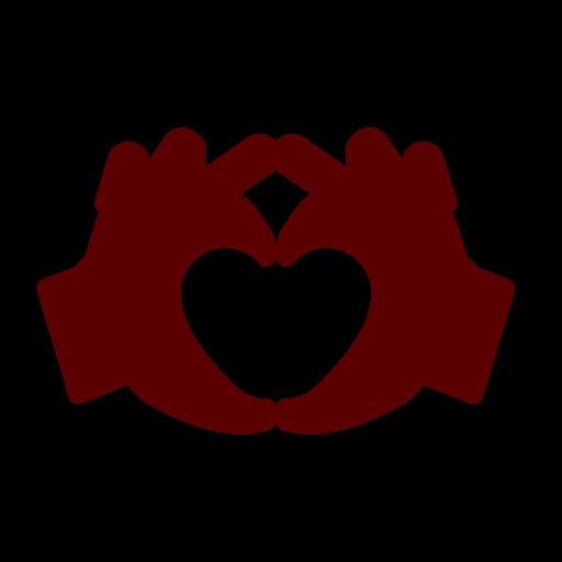 2 Hände formen das Symbol der Liebe und Vergebung - Symbol für Beziehungstipps