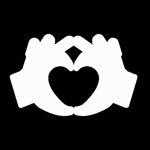 2 Hände formen das Symbol der guten Beziehung - Symbol für anonyme Eheberatung
