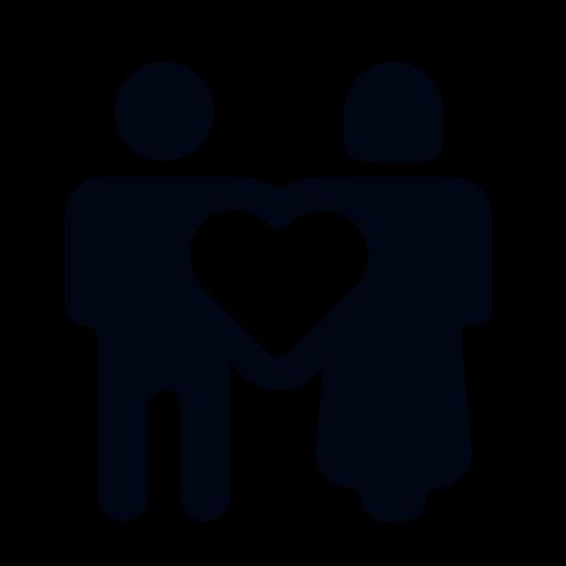 Symbolisiertes Ehepaar zeigt Herz und liebt sich durch Ratschläge und Tipps und liebt sich mehr als zuvor
