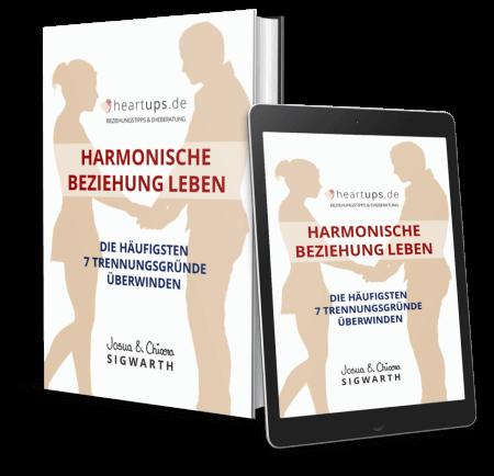 Buch Cover von eBook Harmonische Beziehung leben, Die häufigsten 7 Trennungsgründe überwinden