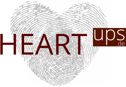 Das Logo von HEARTups ohne Schriftzug - Gute Beziehungen und Ehen